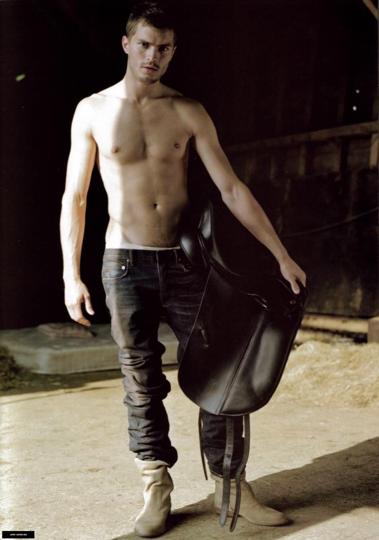 Jamie Dornan for Elle February 2015 Issue, Talks Charlie Hunnam, Matt Bomer as Christian Grey